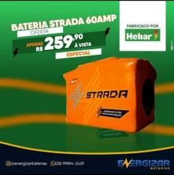 Título do anúncio: Bateria 60 amp. NOVA 01 ANO garantia