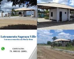 Título do anúncio: Sapeaçu Ville, Loteamento escriturado, 350 m², frente Rodoviária Sapeaçu, infraestrutura