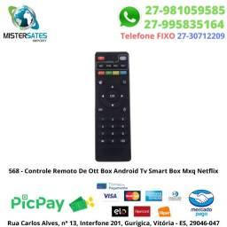 568 - Promoção - Controle Remoto De Ott Box Android Tv Smart Box Mx9 Netflix<br><br>
