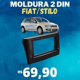 Moldura Painel Dvd 2din Central Multimídia Fiat Stilo