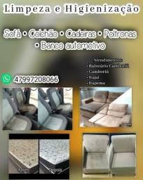 Higienizar sofá,  colchão,  cadeiras,  poltrona