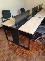 Título do anúncio: Mesa tipo estação de trabalho em MDF