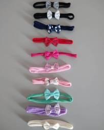 Kit com 10 lacinhos para bebê de cores variadas<br>