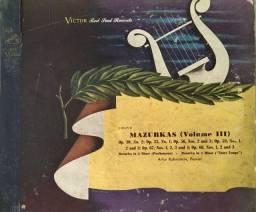 Discos vinil Chopin Mazurkas volume III  4 discos 78 rpm