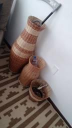 Título do anúncio: 3 cestos de sisal