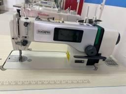 Máquina de costura reta eletrônica zoje nova