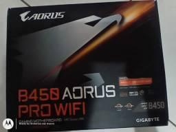 Placa mãe aorus b450 pro wifi e water cooler