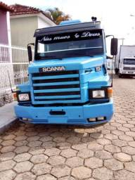 Scania 113 360 Topline azul 6x2 Impecável