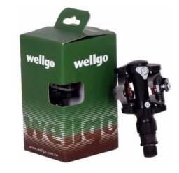 Pedal Bike Clip Wellgo Wpd-823 para Mtb com tacos (novo na caixa)