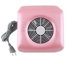 Coletor Aspirador Sugador de Pó Unhas 1 Cooler Acrigel Fibra _ b22-Rosa