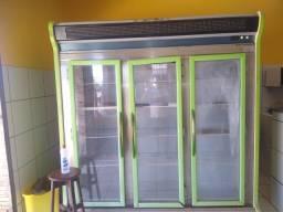 Refrigerador 3 portas painel digital na frente