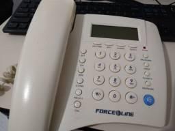 Telefone de Mesa (com fio) Force Line com Identificador de Chamadas
