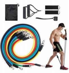 Kit Elástico Para Treino Exercícios Malhar Musculação