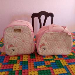 2 bolsas para  rosa