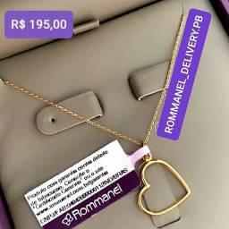Título do anúncio: Colar com Pingente Coração Rommanel Folheado à Ouro 18k