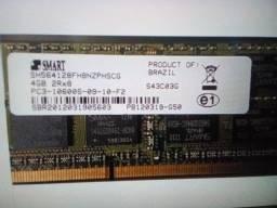 Memória RAM 4GB 1x4GB Smart
