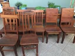 Cadeiras madeira de demolição
