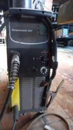 Título do anúncio: Máquina de solda mig 250 com cilindro