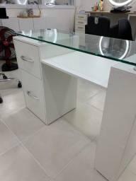 Título do anúncio: Mesa tampo vidro manicure