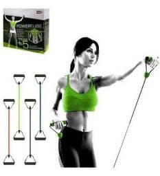 Elástico de  tensão para exercício  de musculação  Power tube
