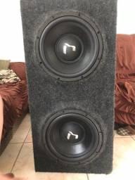 Caixa de som com dois questo audio 350
