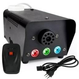Maquina de fazer fumaça 700w com led e controle remoto