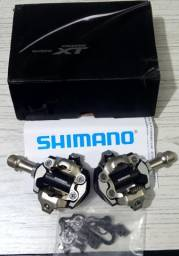 Pedal Clip Bike Mtb Shimano XT novo com taquinhos.