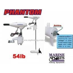 Motor Eletrico Barco 54 Lbs Phantom com Display Agua Salgada