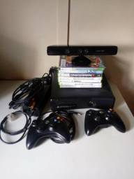 Xbox 360 Original + Kinect + 8Jogos