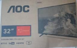 "Smart TV LED 32"" AOC, na caixa"