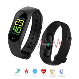 Relógio Inteligente Smartband M3 Mede Pressão e Batimentos Cardíacos Pronta Entrega