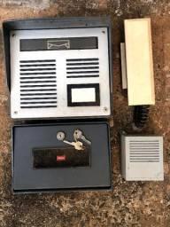 Kit porteiro eletronico com correio interfone Novo nunca usado decada 90 vintage antigo