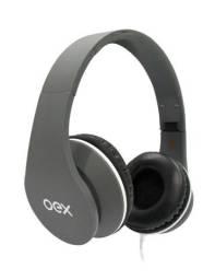 Headset Sense P2 Microfone E Atendimento De Chamada Cinza Hp100s Oex