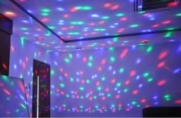 Caixa de Som Globo de Luz Led Projetor ,2 em 1!