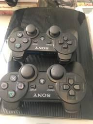 PS3 com 8 Jogos