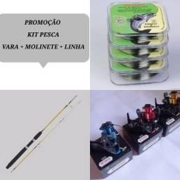 Promoção kit pesca vara+molinete+linha