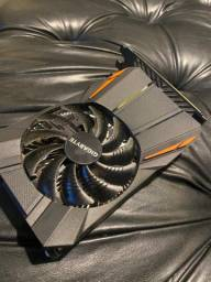 Placa de vídeo Nvidia GeForce GTX 1050 Ti 4GB gigabyte aceito trocas e cartão