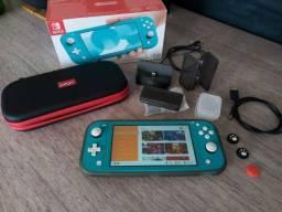Nintendo Switch Lite Turquesa + acessórios