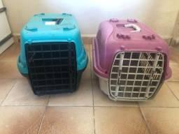 Título do anúncio: Duas caixinhas de transporte pra cachorro