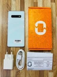 Samsung S10+ Branco 128gb, Semi-Novo com Nota (12x Sem Juros)