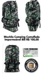 Mochila Camping camuflada impermeável 80lt