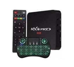 TvBox MxqPro 4K 5G com Mini Teclado RGB Led