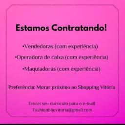 Título do anúncio: Vagas para loja shopping vitoria