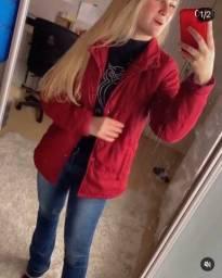 Jaqueta vermelha weekend