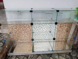 Balcão de vidro vitrine