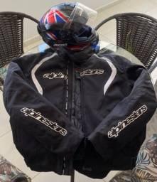 Vendo jaqueta alpinestars e capacete axxis