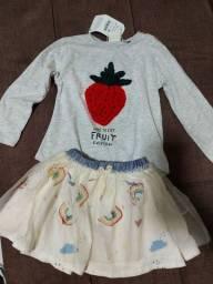 Conjunto zara baby, 3 anos, novo com tag