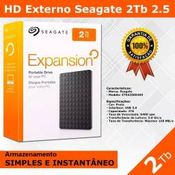 Hd Externo 2TB Seagate - Novo Pronta Entrega