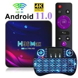 Título do anúncio: Tv box Android 11 + mini keyboard, 2 + 16gb