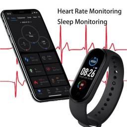 Smartband M5 (monitoramento de sono, notificações apps e ligações)